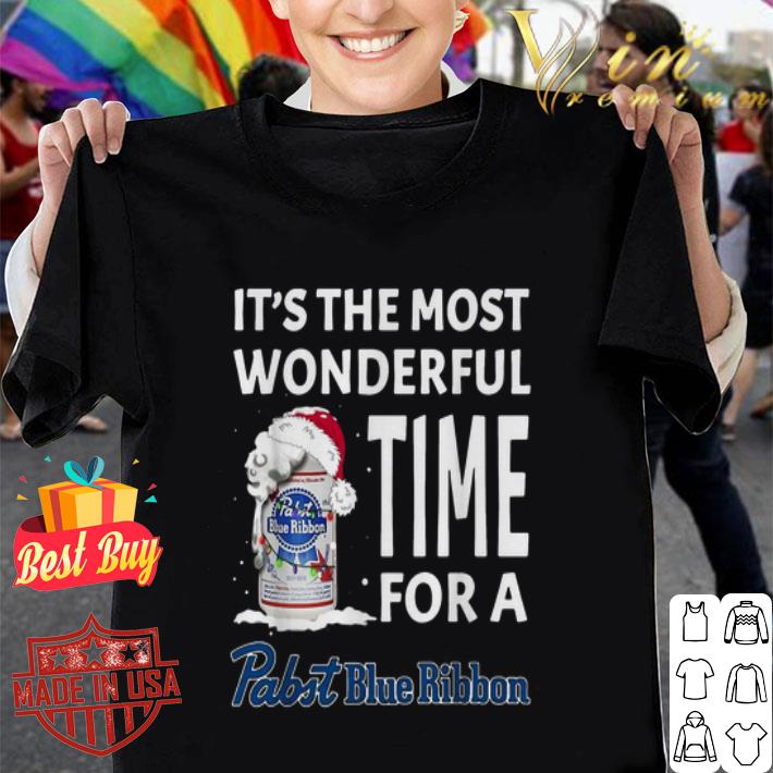 It's the most wonderful time for a Pabst Blue Ribbon Christmas shirt