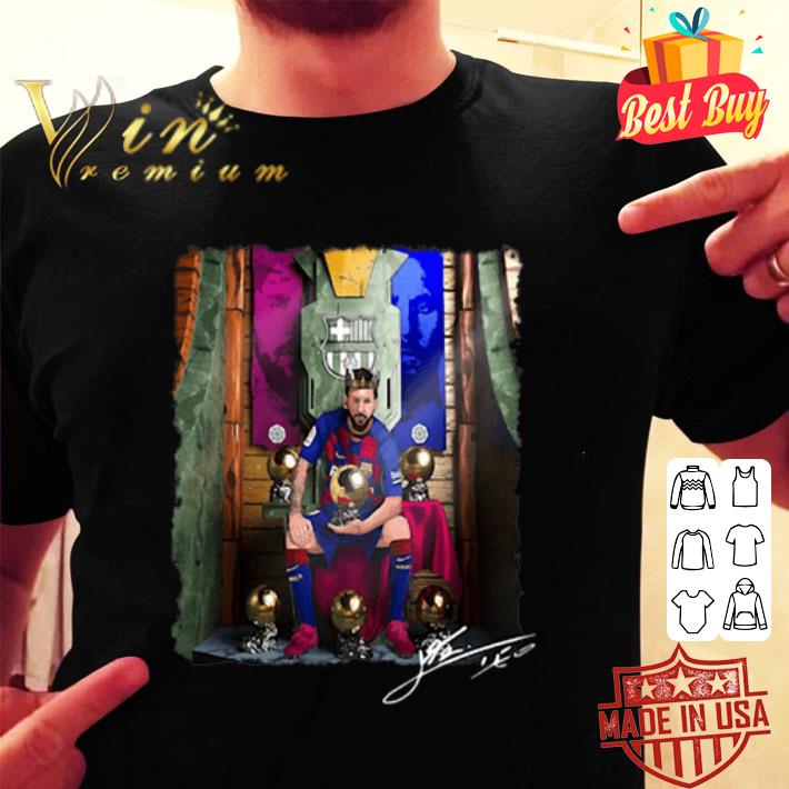 Jesus Lionel Messi Sixth Golden Ball Signature shirt