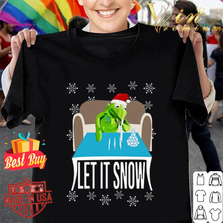Kermit The Frog Walmart Cocaine Let It Snow shirt