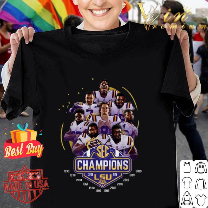 LSU Tigers players 2019 SEC Championship shirt