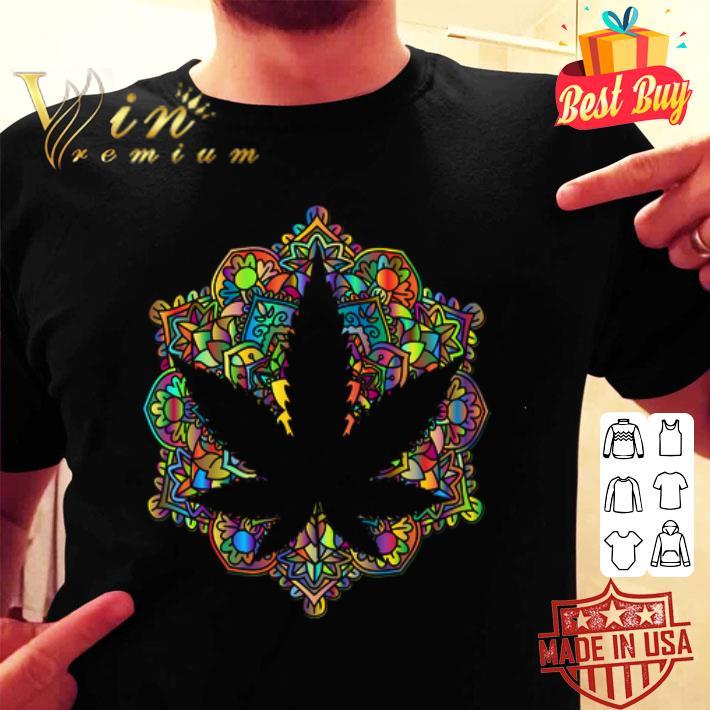 Meditation lotus spiritual leaf weed shirt