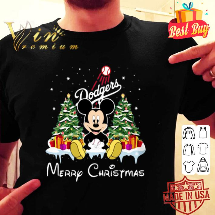 Mickey Los Angeles Dodgers Merry Christmas shirt