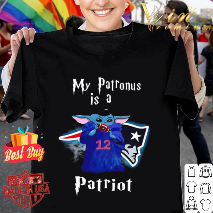 My Patronus is a Baby Yoda New England Patriots shirt