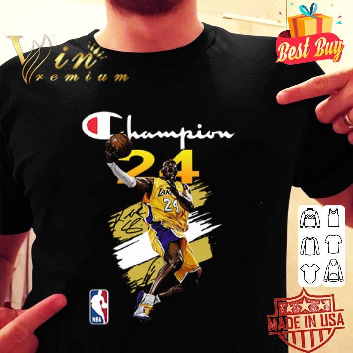 NBA Los Angeles Lakers Kobe Bryant Champion signature shirt