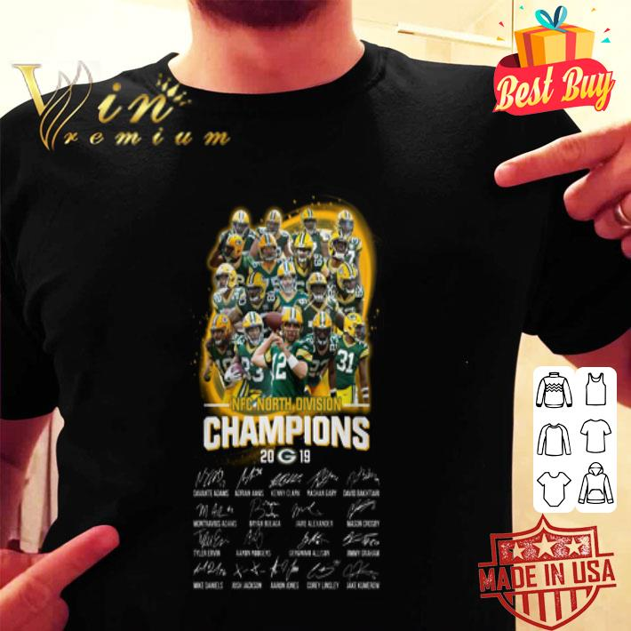 NFC North Division Champions 2019 Green Bay Packers all signed shirt
