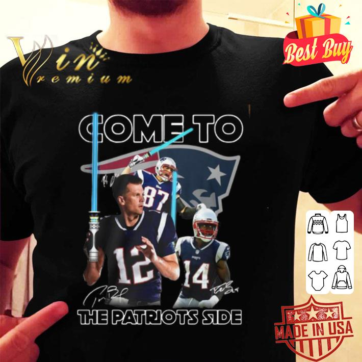 New England Patriots Come To The Patriots Side Signatures shirt