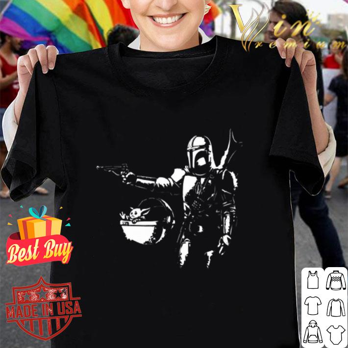 Pulp Fiction Pulp Mando The Mandalorian Baby Yoda shirt