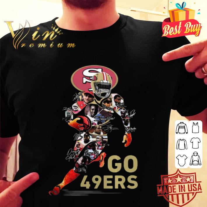 San Francisco 49ers Go 49ers signatures shirt