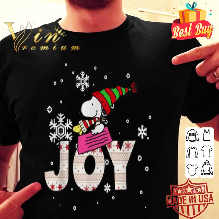 Snoopy Joy Woodstock Peanuts Christmas shirt