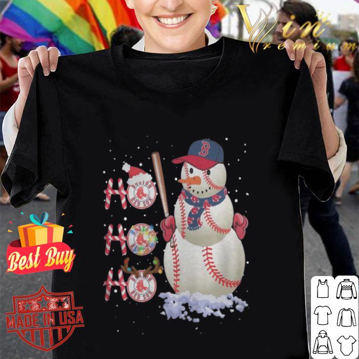 Snowman Boston Red Sox Ho Ho Ho Christmas shirt