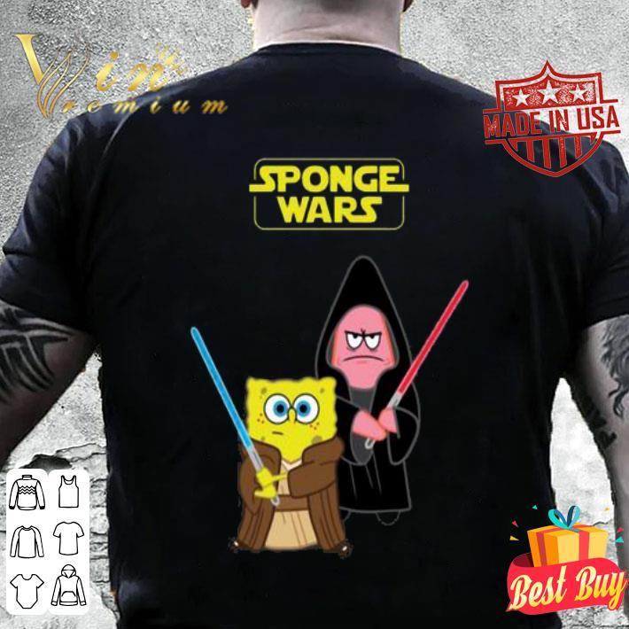 Sponge Wars Star Wars SpongeBob SquarePants shirt