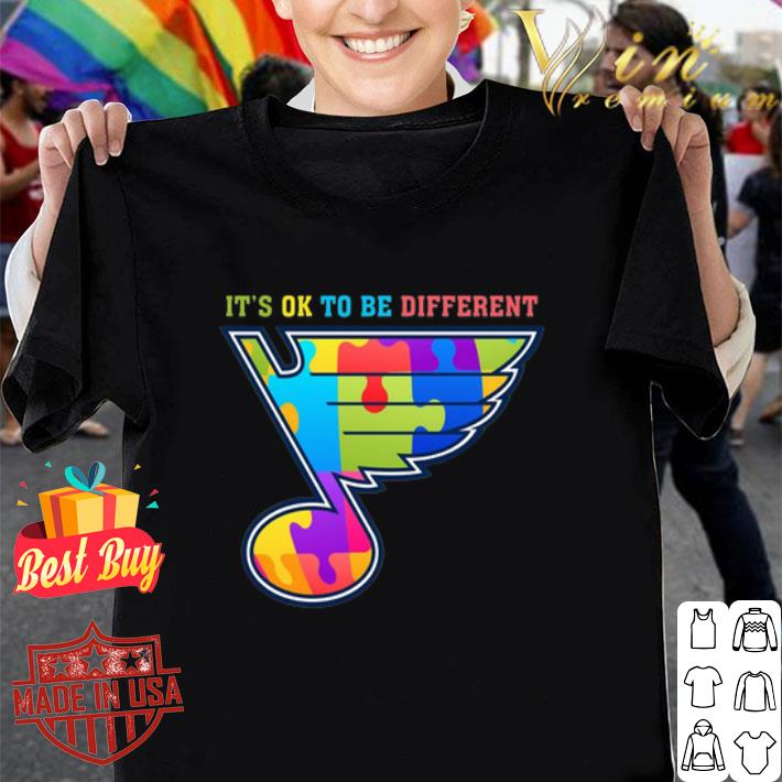 St Louis Blues It's ok to be different shirt