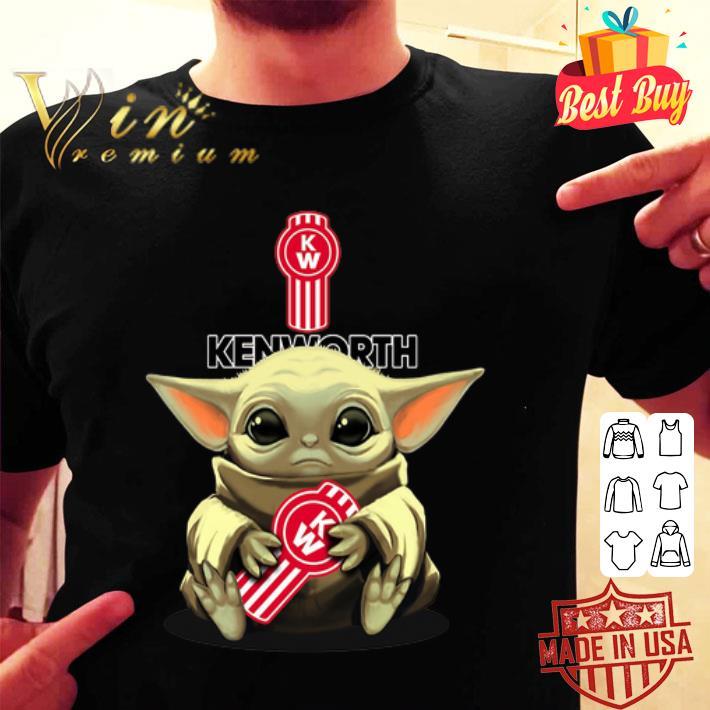 Star Wars Baby Yoda hug Kenworth shirt