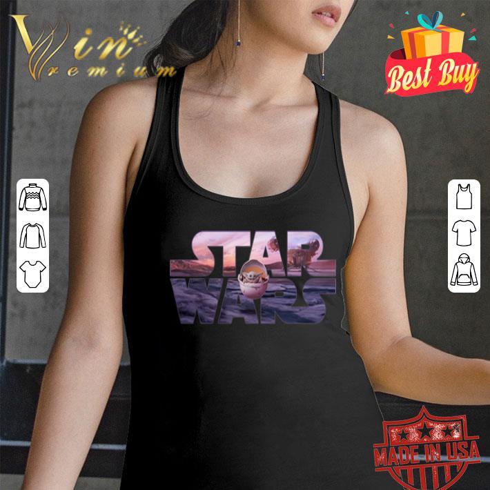 Star Wars The Mandalorian Razor Crest Floating Pod Logo shirt