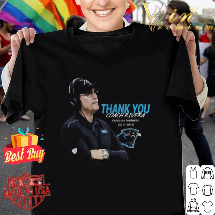 Thank You Coach Ron Rivera Carolina Panthers 2011 2019 shirt