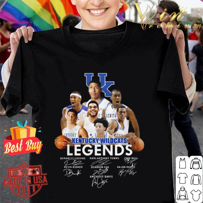 University of Kentucky Wildcats legends signatures shirt