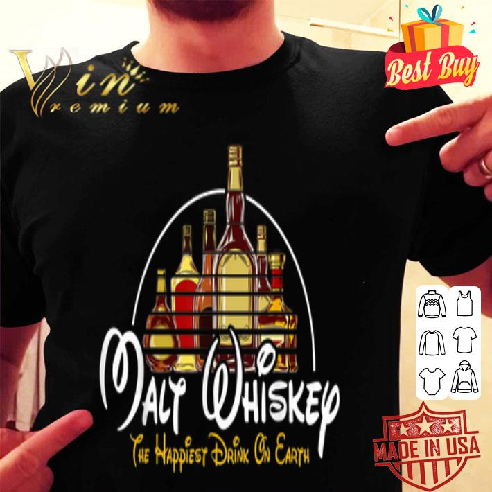 Walt Disney Malt Whiskey The Happiest Drink On Earth shirt