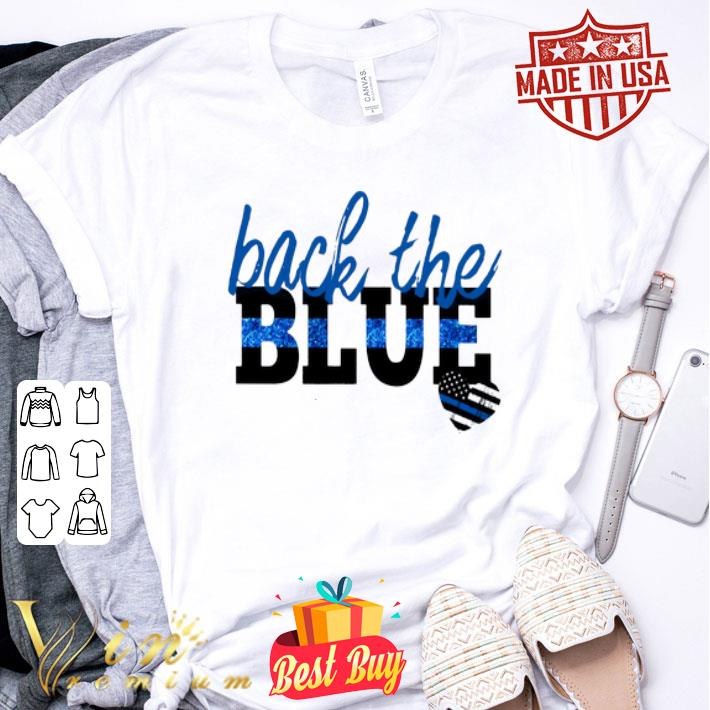 back the blue Thin Blue Line heart shirt
