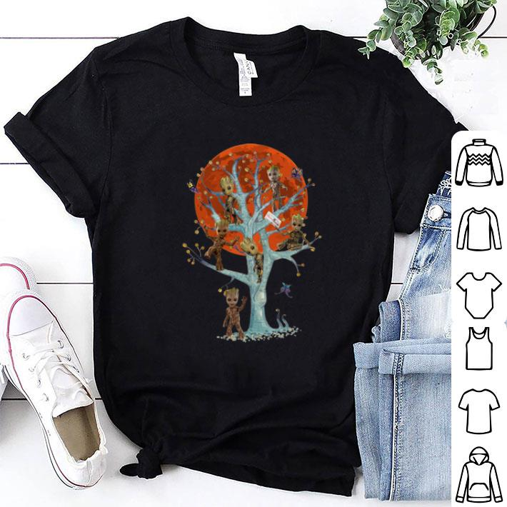 Baby Groots On Tree Blood Moon shirt