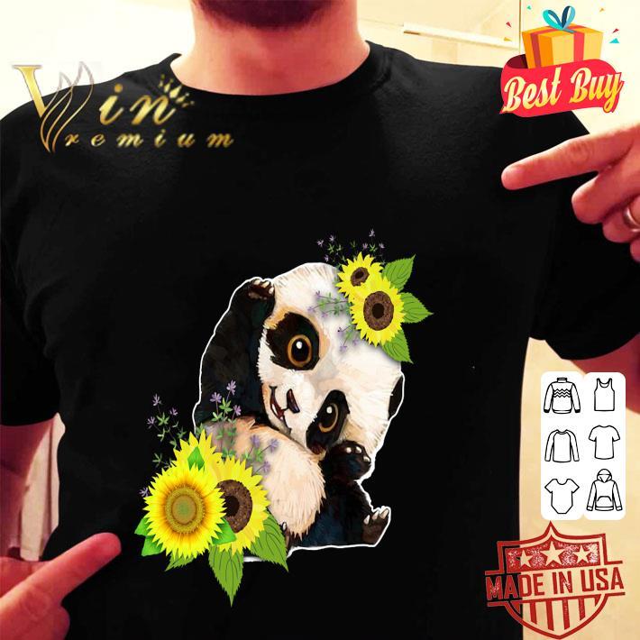 Baby Panda Sunflower shirt