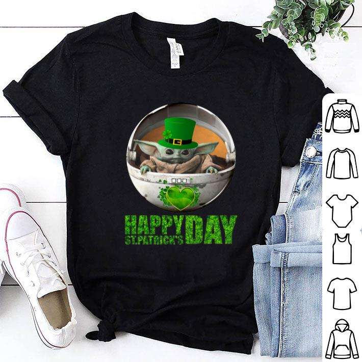 Baby Yoda Happy Saint Patrick's Day Star Wars Mandalorian shirt