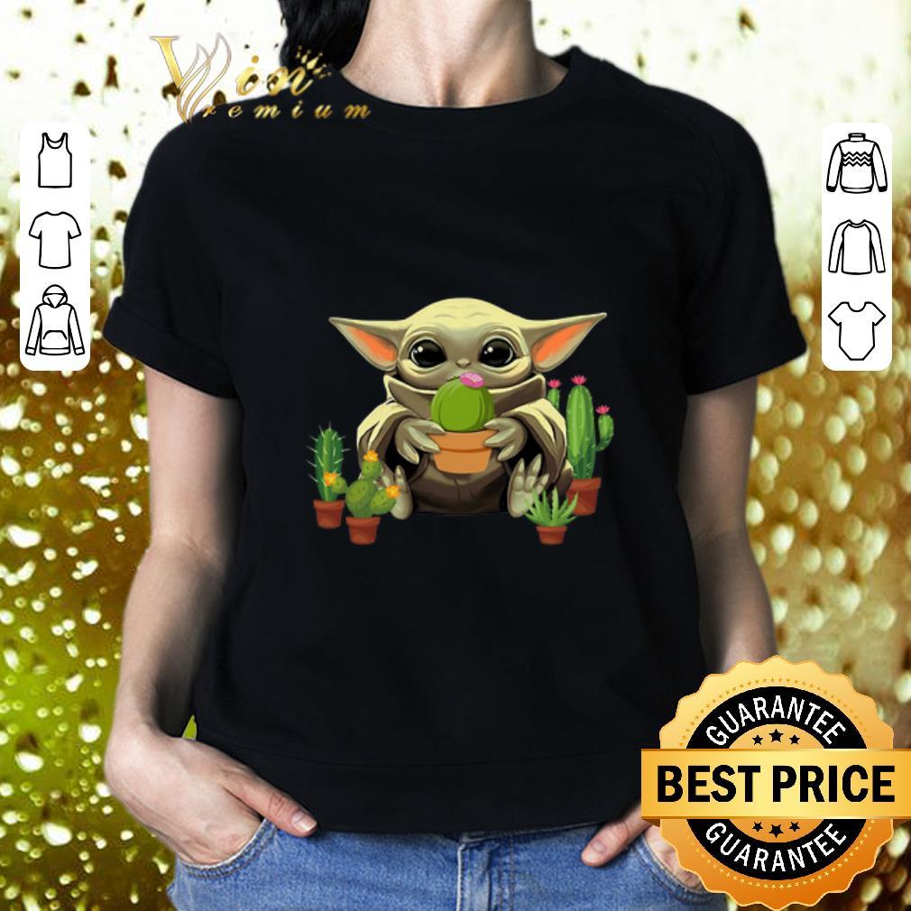Baby Yoda Hug Cactus Star Wars shirt