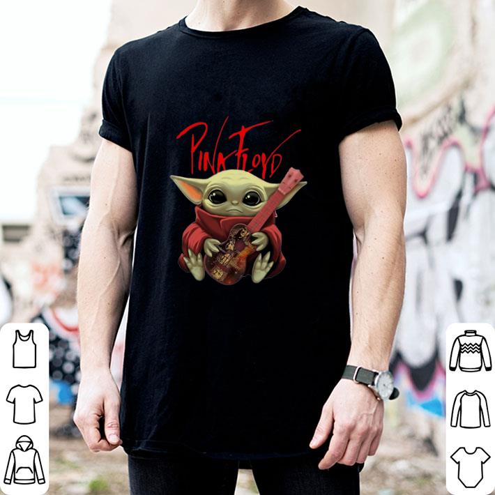 Baby Yoda Hug Pink Floyd Guitar Star Wars shirt