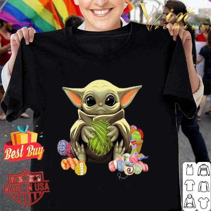 Baby Yoda Knitting & Crochet quilting shirt