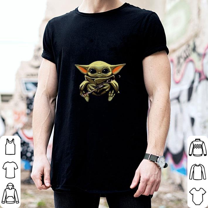 Baby Yoda hug Bassoon Star Wars shirt