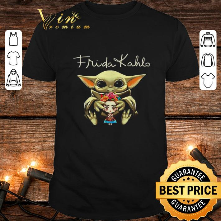Baby Yoda hug Frida Kahlo Star Wars Mandalorian shirt