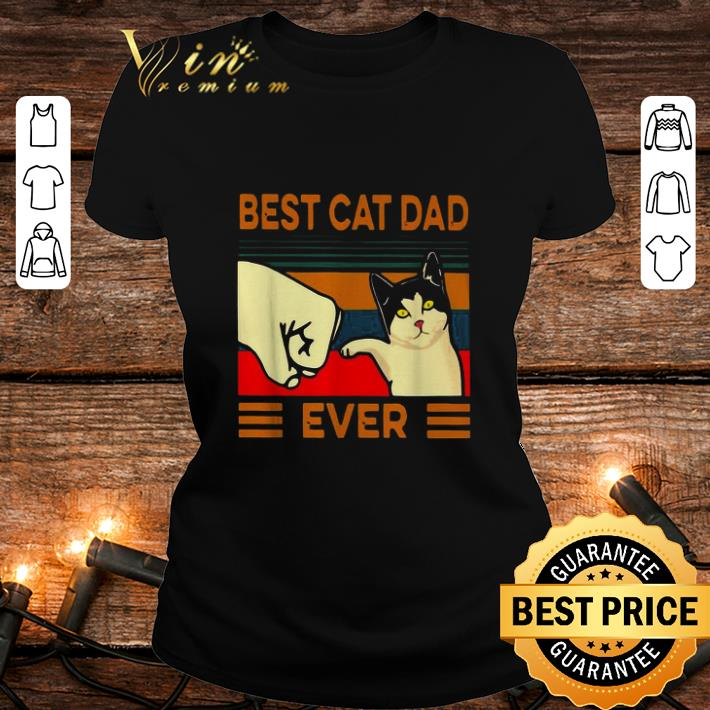 Best cat dad ever vintage shirt 2
