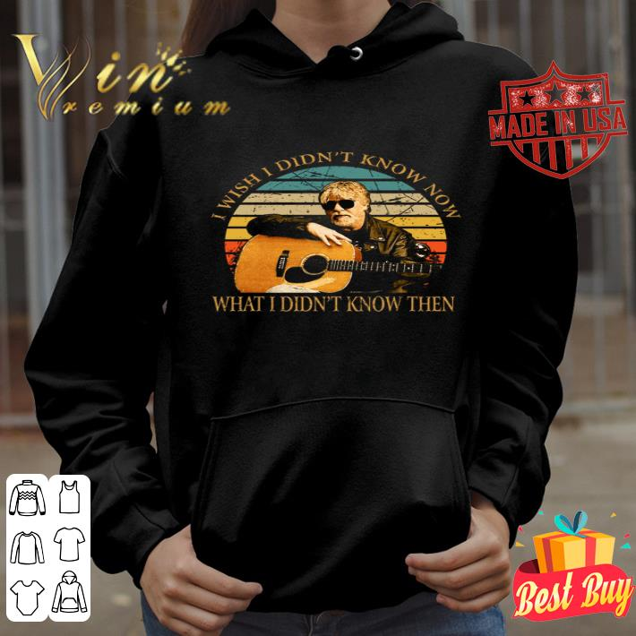 Bob Seger i wish i didn't know now what i didn't know then vintage shirt