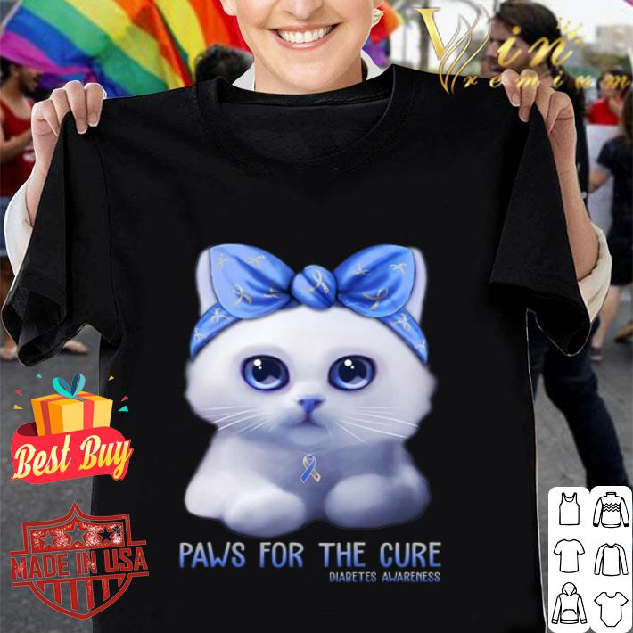 Cat paws for the cure Diabetes Awareness Month shirt