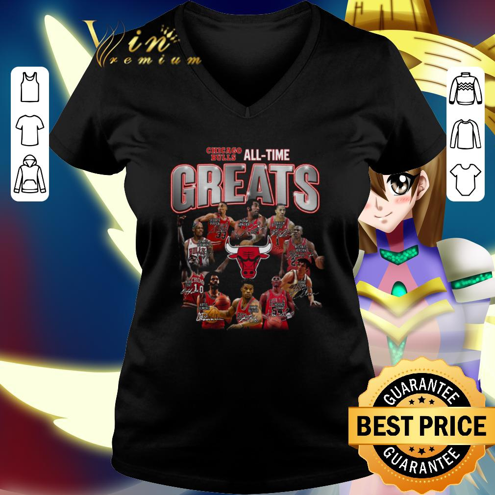 Chicago Bulls all time greats legends all signature shirt