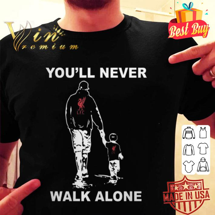 Father and son You'll never walk alone Liverpool FC shirt