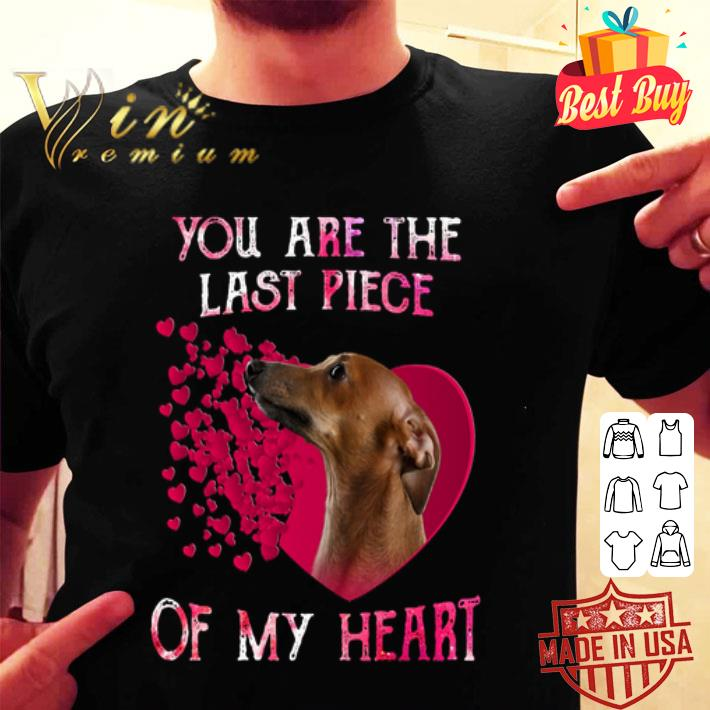 Greyhound dog you are the last piece of my heart Valentine's day shirt