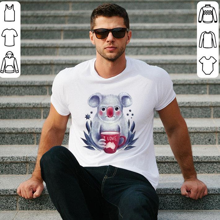 I Love Koala Bushfires in Australia shirt