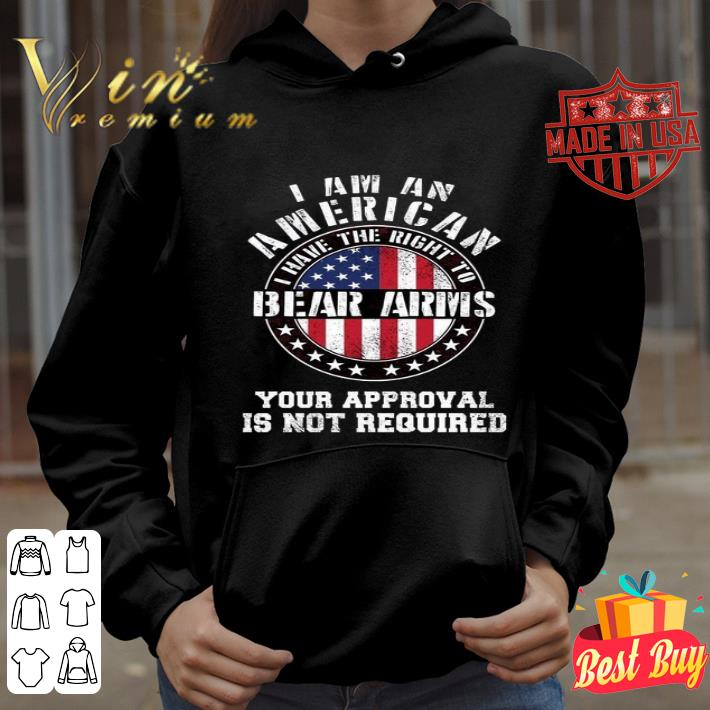 I am an American i have the right to Bear Arms American flag USA shirt