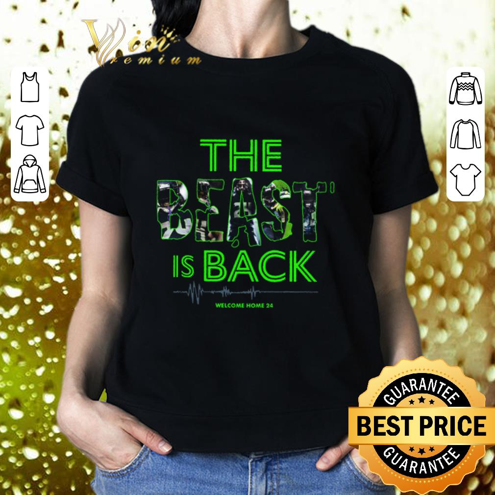 Marshawn Lynch The Beast is back welcome home 24 Seahawks shirt