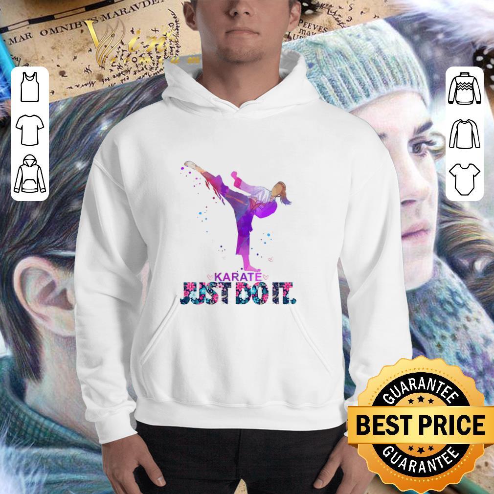 Nike Karate Just Do It Flowers shirt