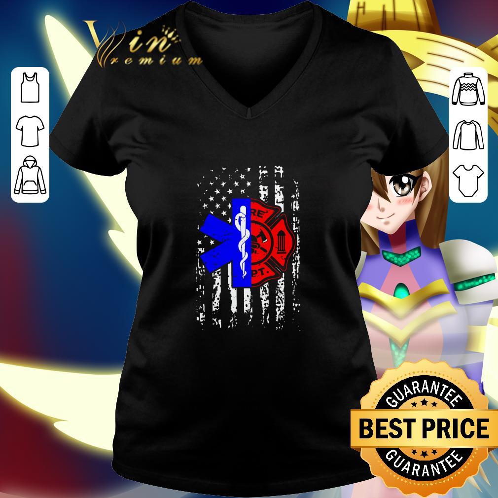 Nurse EMT and Firefighter American Flag shirt