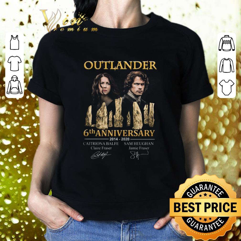 Outlander 6th anniversary 2014 2020 all signature autographed shirt 2