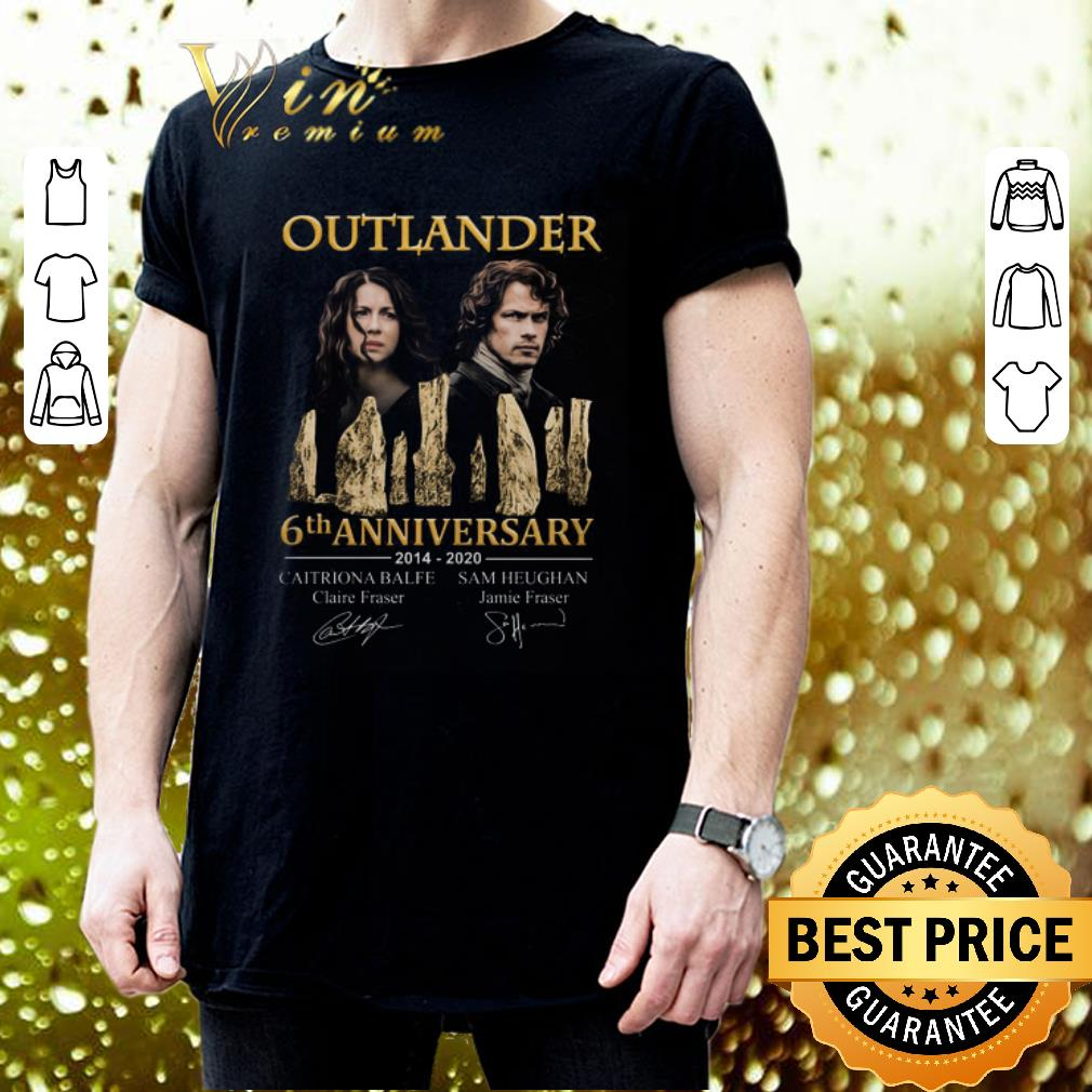 Outlander 6th anniversary 2014 2020 all signature autographed shirt 3
