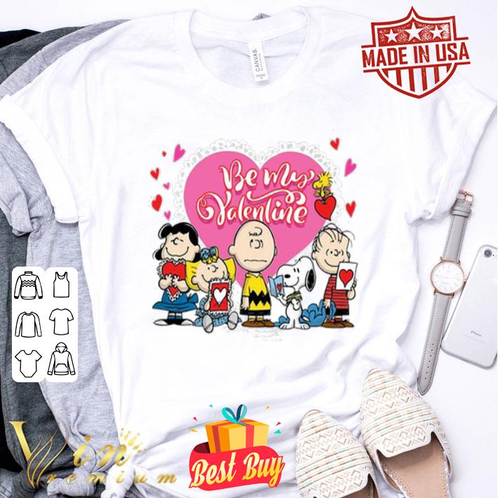 Peanuts characters Be my Valentine Snoopy Charlie Brown shirt