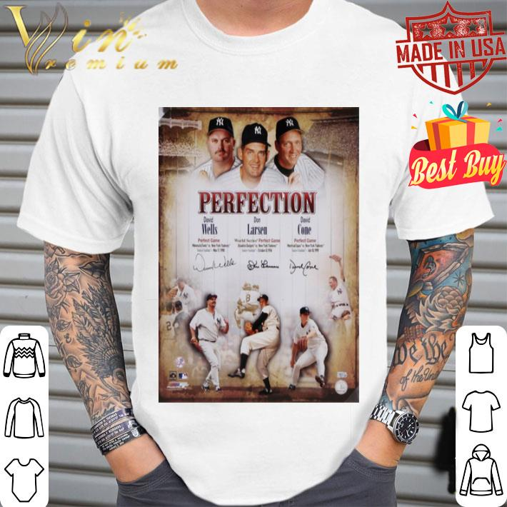 Perfection David Wells Don Larsen David Cone New York Yankees shirt