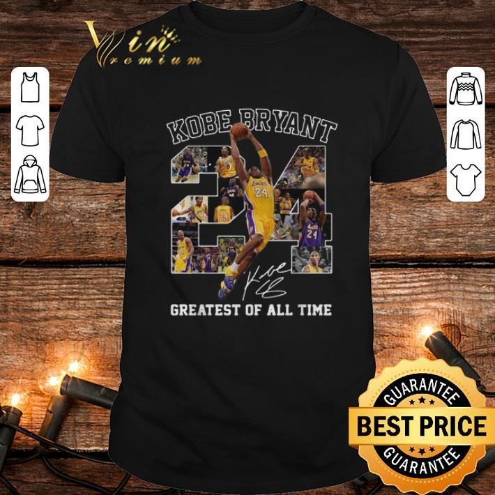 Rip 24 Kobe Bryant Signature Greatest Of All Time LA Lakers shirt