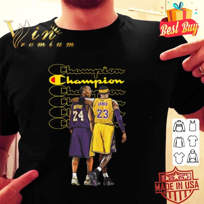 Rip Kobe Bryant Champion Logo Lebron James shirt