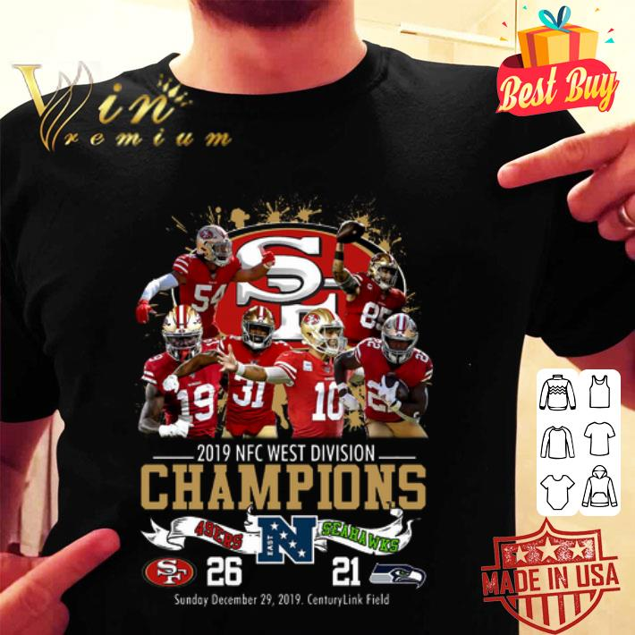 San Francisco 49ers 2019 NFC West Division Champions Seahawks shirt