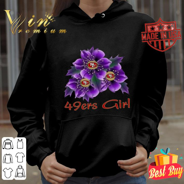 San Francisco 49ers Girl purple flowers shirt