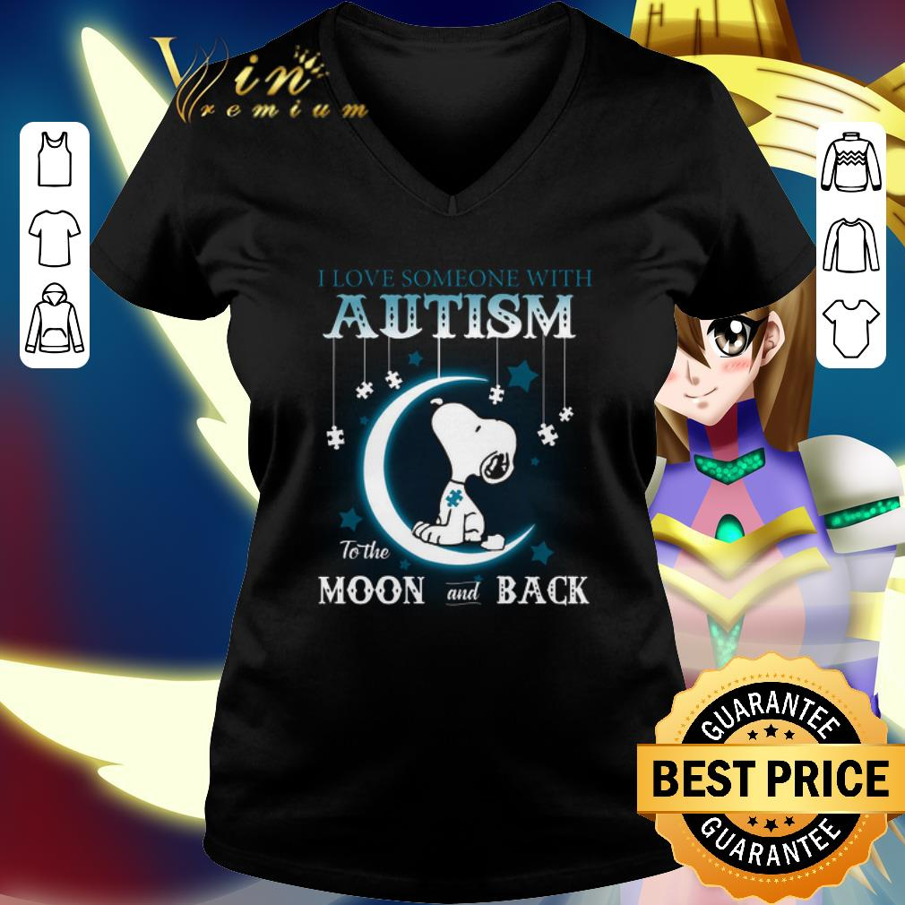 Snoopy i love someone with Autism to the moon and back shirt